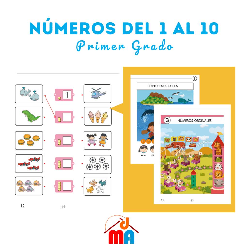Números del 1 al 10 2 material de aprendizaje