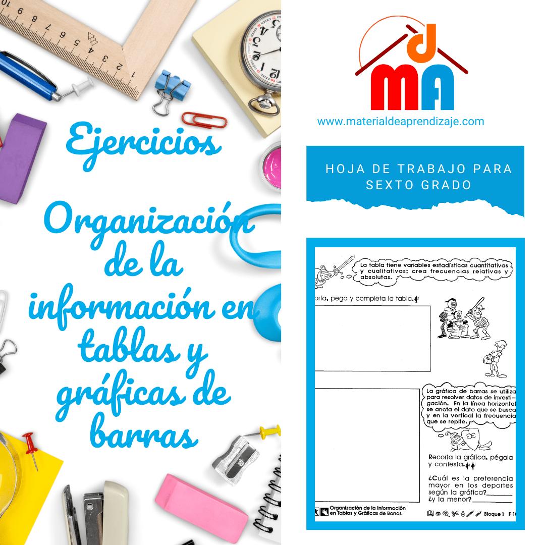 010 Organización de la información en tablas y gráficas de barras