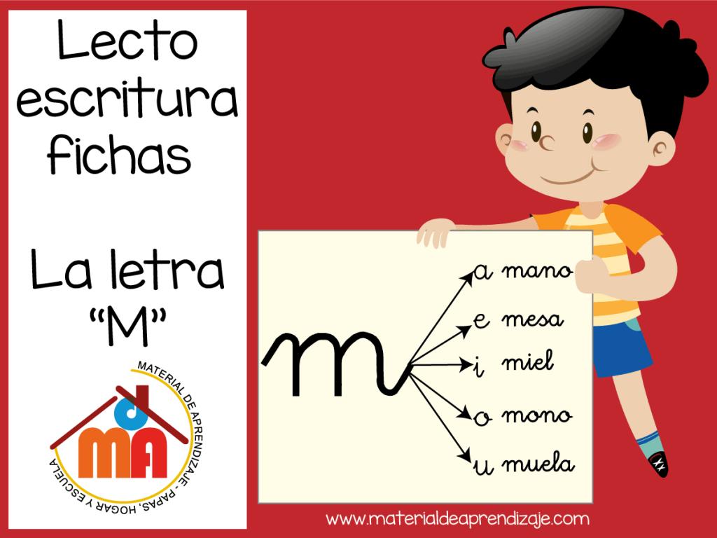 la-letra-m material de aprendizaje
