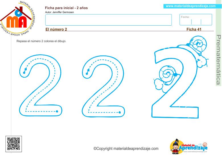 41 prematematica 2 años -el numero 2 -2