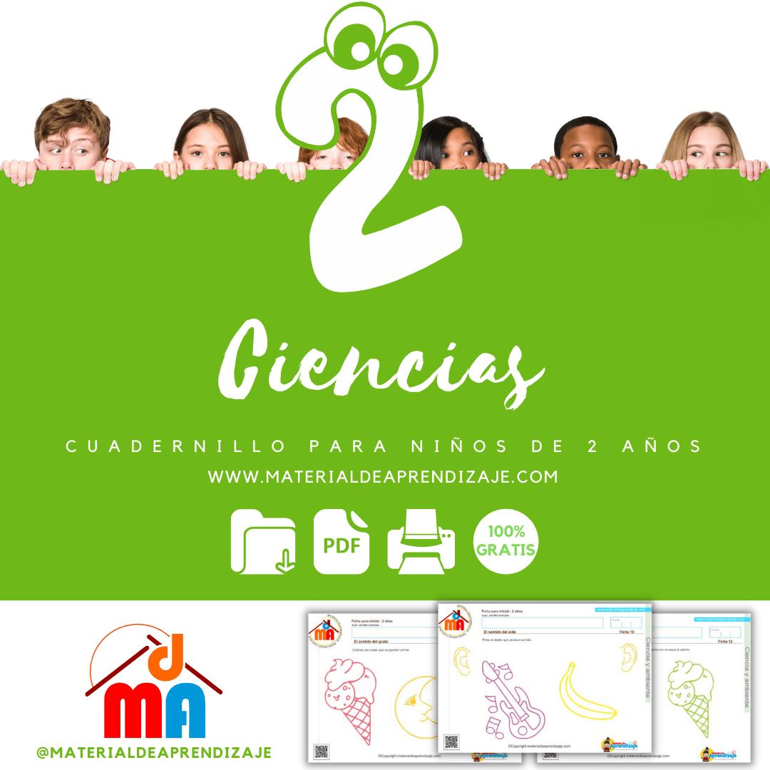 Fichas de ciencias para niños de 2 años