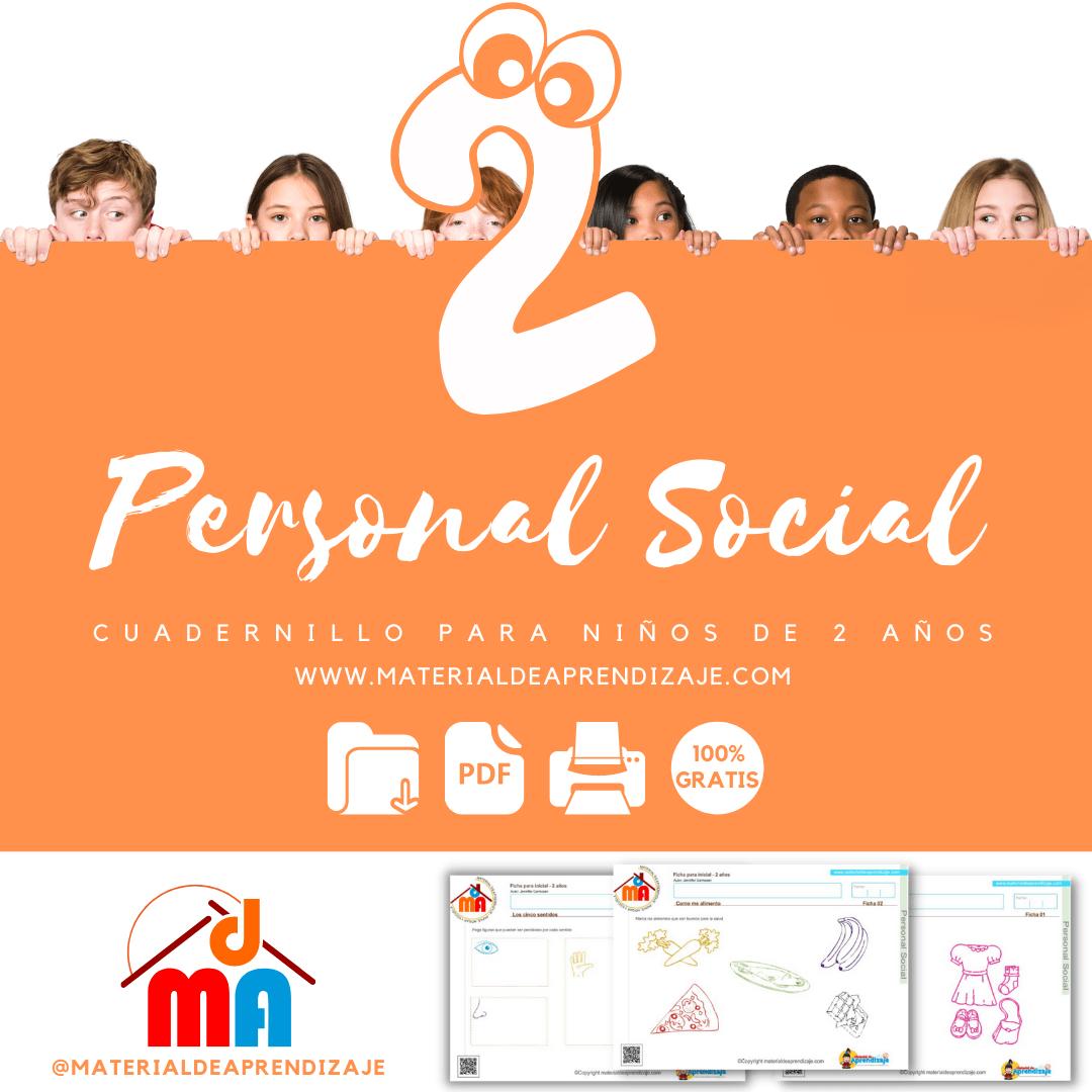 Fichas de Personal Social Para niños de 2 años