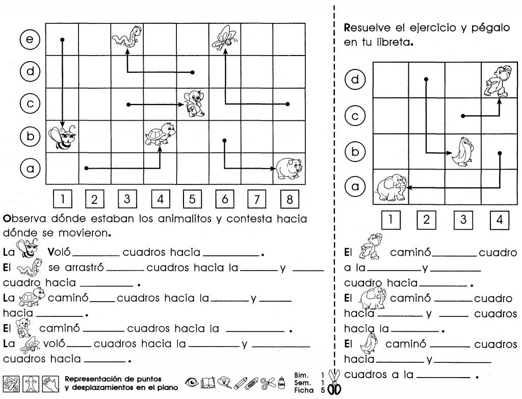 Representación de puntos y desplazamientos en el plano