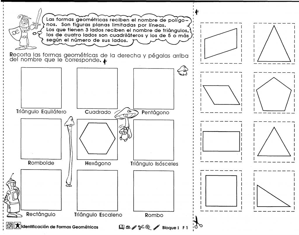 Identificación de formas geométricas (6to grado)