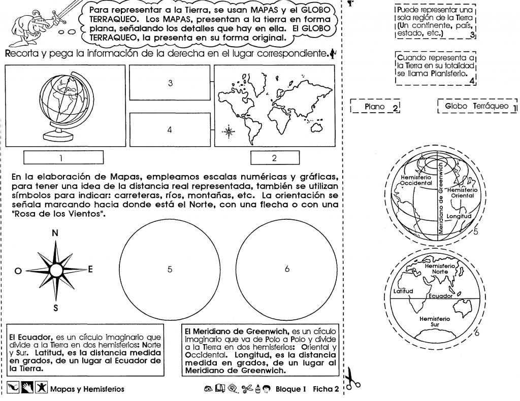 Mapas y hemisferios (6to grado)